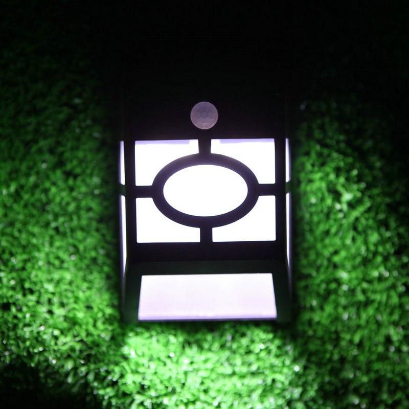 wall lamp light solar power panel lights 10 led light sensor waterproof outdoor fence garden pathway wall lamp lighting white