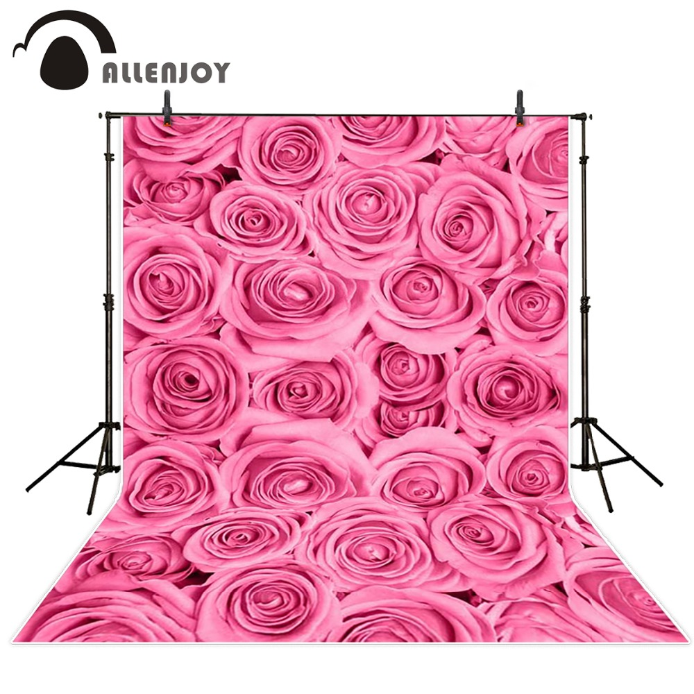 Allenjoy Photography background Rose bushes Wall Flower baby boy digital fabric backdrops