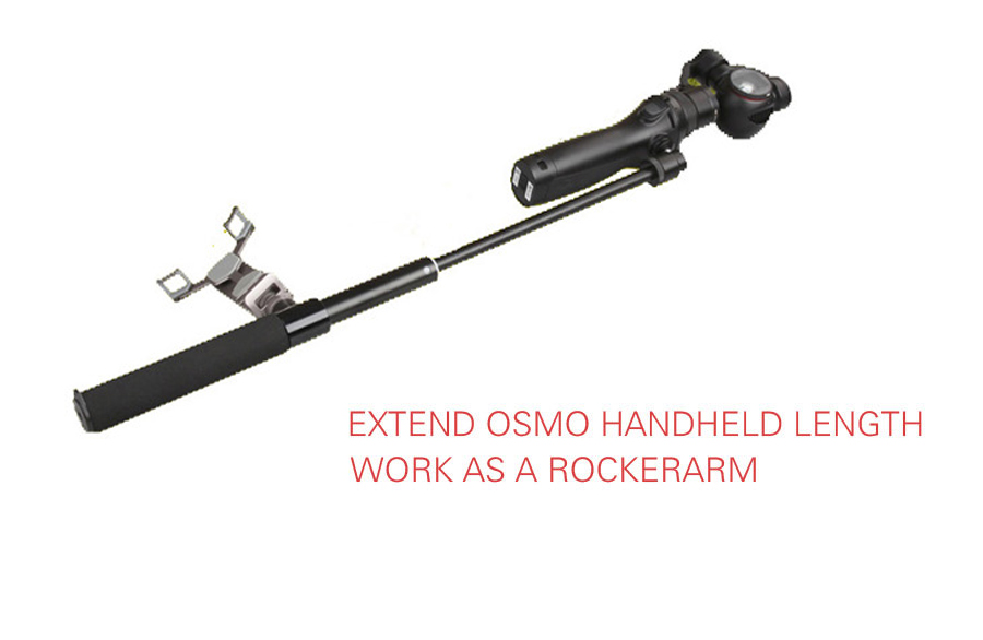 DJI OSMO Extension Pole Rod Scalable Extension Stick for DJI Osmo &DJI Osmo &DJI + OSMO Mobile Handheld Gimbal Accessories 8