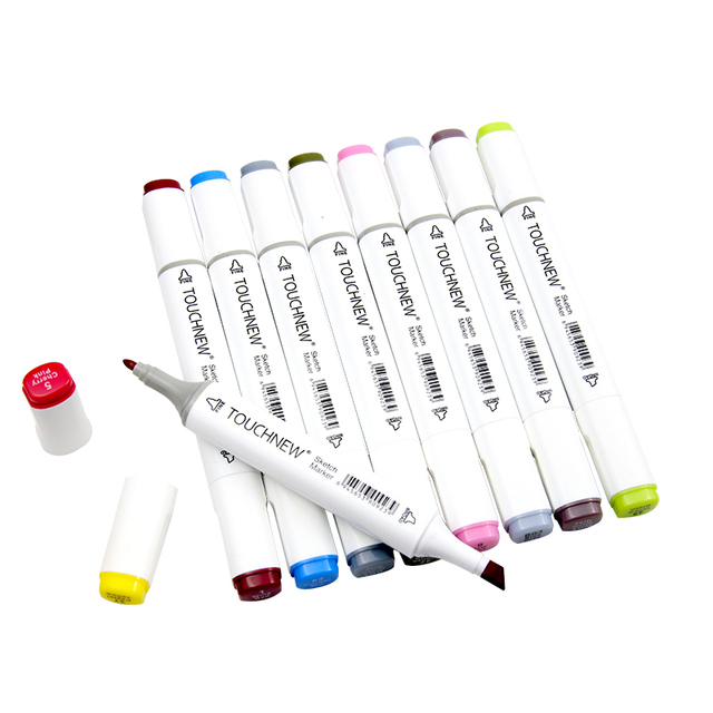 TOUCHNEW 30/40/60/80 Color Markers Manga Drawing Markers Pen Alcohol Based Sketch Oily Dual Brush Pen Art Supplies 1