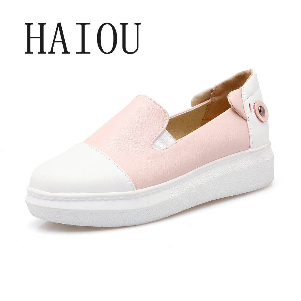 New Fashion Women Pink Black Round Toe Autumn Casual Soft Flats Shoes Ladies Slip on Moccasins Driving Pregnant Loafers Creepers 2017 summer new fashion sexy lace ladies flats shoes womens pointed toe shallow flats shoes black slip on casual loafers t033109
