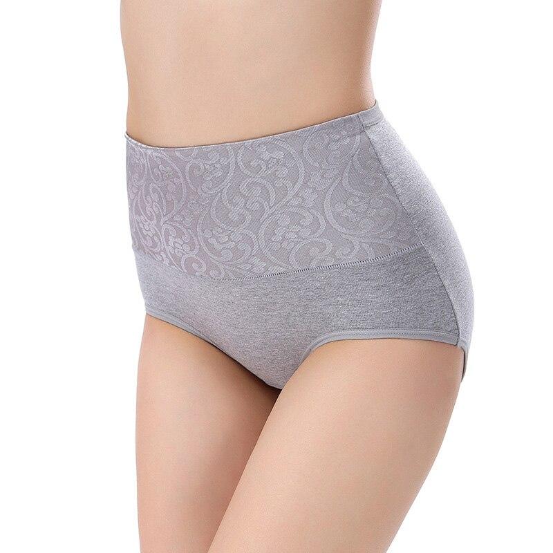 2018 Women New Underwear Cotton Panty High Waist Breathable Panties Plus Size Body Shaping Briefs   Lingeries Female Underwear