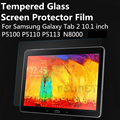 Toughened Tempered Glass For Samsung Galaxy Tab 2 / P5100 / P5110 / P5113 / N8000 Film Clear Screen Protect Cover