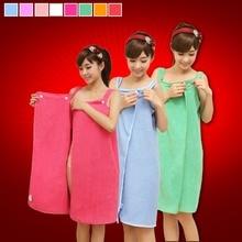 towel bath wellness симпл 70 140 cm peach Women Cute Soft Microfiber Bath Towel Fashion Washcloth Fast Drying Hair Towel Beach Towel Dress Bathrobe For Adults 140*80 CM