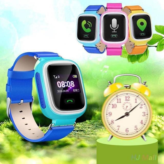 """Q60 0.99 """"Смарт-Наручные Часы SOS Вызова Анти-потеряны для iPhone iOS Android Детей Малыш Носимых Устройств reloj inteligente Подарки"""
