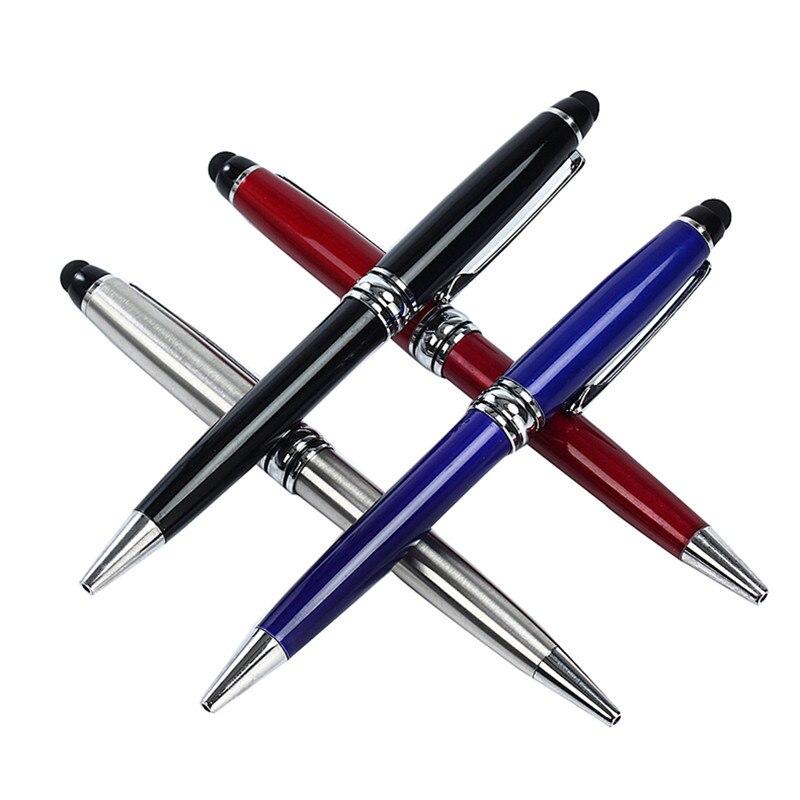 2 In 1 Metall Kapazitiven Universal Tabletten Touch Stylus Stift Mikrofaser Ball Stift Für Iphone 5 6 7 Laptop Eingebaute Kugelschreiber Eine Lange Historische Stellung Haben