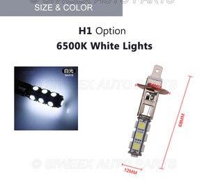 Image 4 - 1 個ビッグプロモーション H1 ハイパワー 13 SMD 5050 LED 電球ホワイト車の自動車ヘッドライトヘッドライトランプ DC 12V