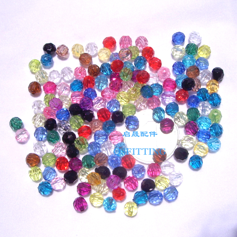 Beads Kind-Hearted 100pcs Candy Mixed Color 6mm Acrylic Round Loose Beads Making Necklace Bracelet Diy Jewelry Cream Beads Handmad Neon Smooth Excellent Quality