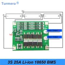Für Schraubendreher 3S 25A Li-Ion 18650 BMS PCM Batterie Schutz Bord BMS PCM Mit Balance Für li-ion Batterie Zelle pack Modul AU