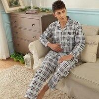 Siriusha Summer Cotton Men S Pajamas Set Cotton Long Sleeve Pants Men S Home Pleated Cotton
