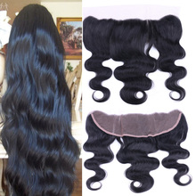 8A Ear To Ear Virgin Peruvian Lace Frontal Closure With Baby Hair Body Wave Remy Human Hair Extensions 13×4 Full Lace Frontal