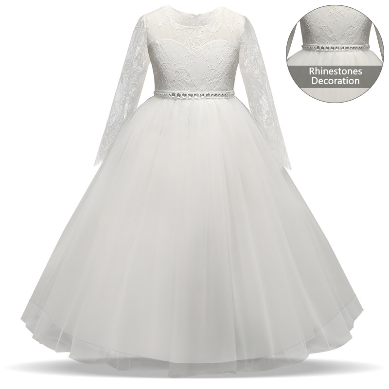 Kids Girls Fancy Dress Crystal in Sashes Flower Long Dresses Children  Wedding Gowns Formal Prom Vestidos Baby Frocks for Girls-in Dresses from  Mother   Kids ... 2e0736a48d06