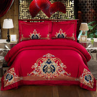 Oriental embroidery Bedding Set luxury wedding Bed Linen Queen King Size Bedspread 4/6pcs Duvet Cover Sets pillowcase