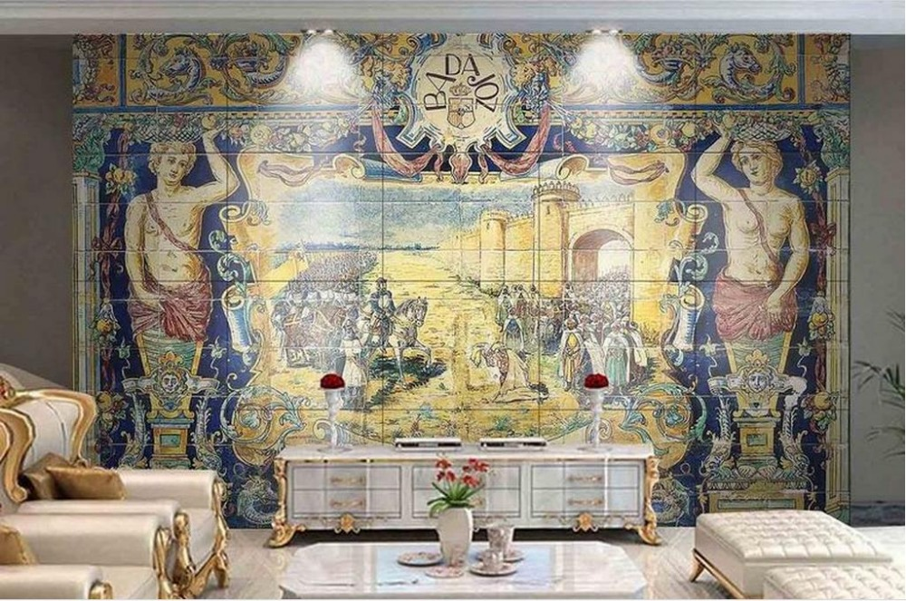 Customize 3d Wallpaper Walls Hand Painted High Definition Oil Painting Art Mural Luxury Wall Papers Home Decor Living Room