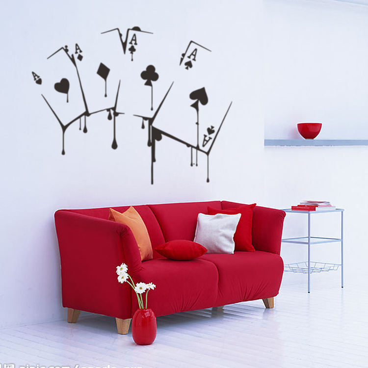 Game room removable personality wall stickers