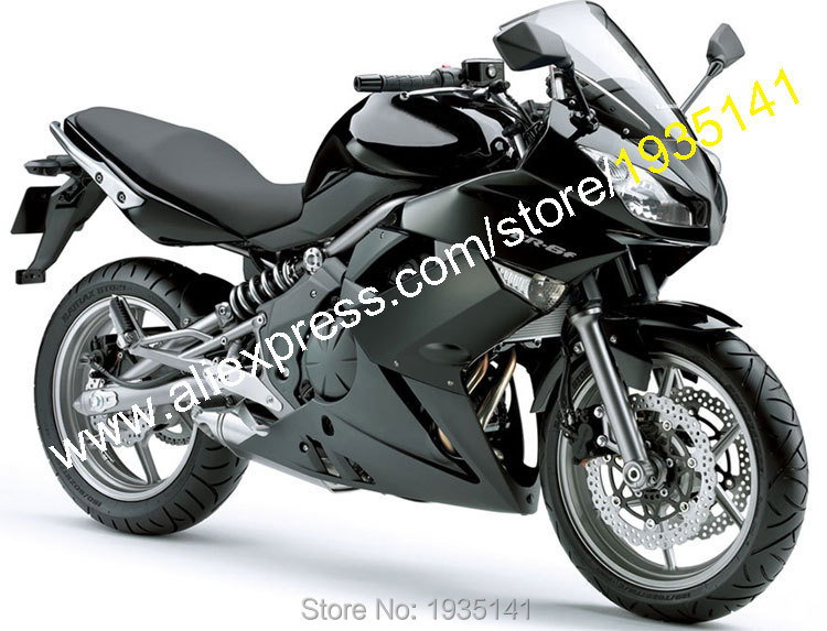 Hot Sales,For Kawasaki Ninja 650R ER6F 2009 2010 2011 ER-6F 09 10 11 ER 6F Full Black Bodyworks Aftermarket Motorcycle Fairing