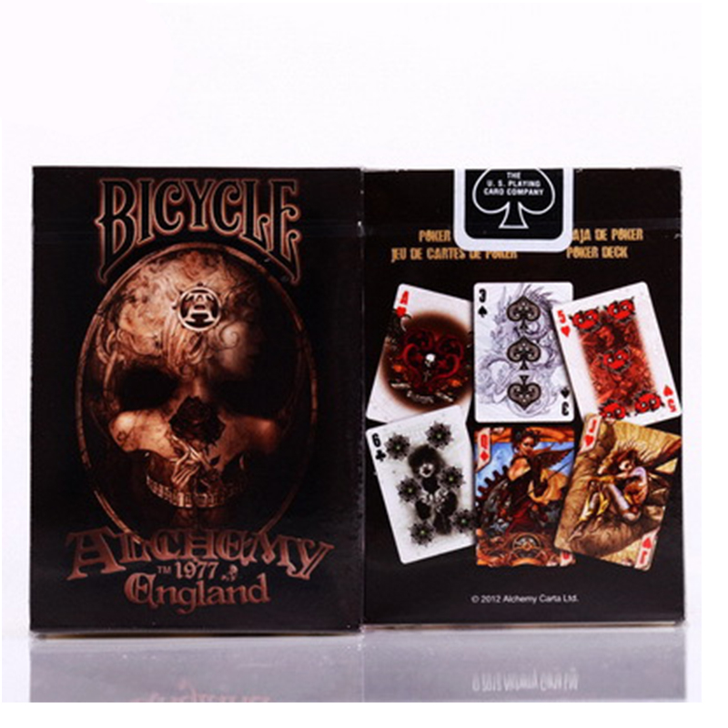 Original Alchemy England Deck Playing Cards Advanced Paper Poker Magic Tricks Gift Collection Poker 81522 цена