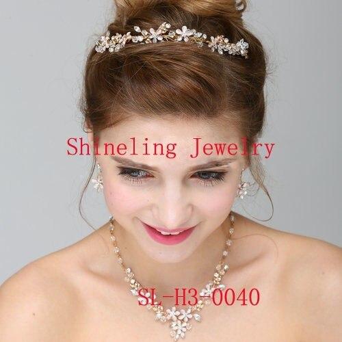 Impresionante Piedras De Lujo de Cristal Perlas de Agua Dulce Collar Pendiente Tiara de La Boda Joyería Nupcial conjunto