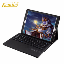 Kemile Removable Wireless Bluetooth Keyboard For iPad pro 10.5 inch PU Leather Case For iPad pro 10.5 inch 2017 Cover Stand russian removable wireless bluetooth keyboard case for 9 to 10 1 inch leather case for ios android windows keyboard