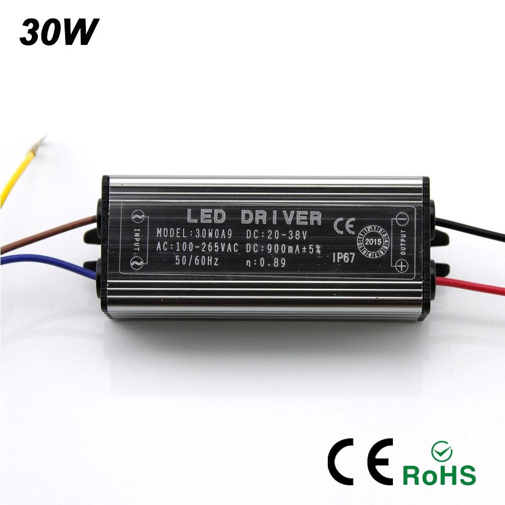 LED Driver 10W 20W 30W 50W Adattatore Trasformatore di Illuminazione AC 100V-265V 220V a DC 20-38V Interruttore di Alimentazione IP67 Per Proiettore
