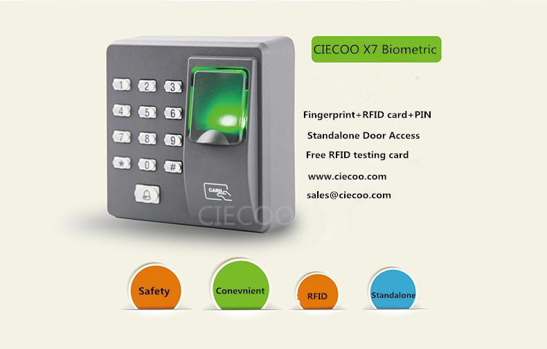 Standalone Finger Print Keypad RFID Single Door Controller Finger +RFID Card Access Control system X7 fingerprint access control standalone single door controller cheapest standalone keypad finger rfid card zkteco x6 door entry