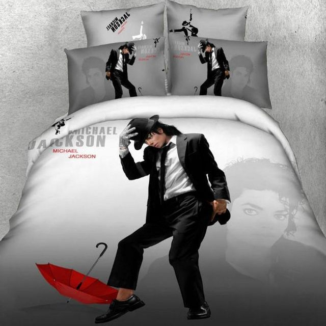 marilyn monroe bedding set 3d 100  cotton michael jackson american flag christmas red duvet