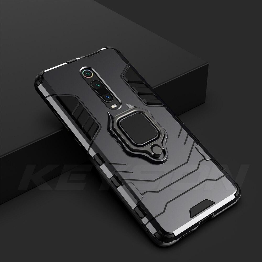 Shockproof Armor Case For Redmi K20 K20 Pro Note 7 7A 6 8 Pro Stand Holder Car Ring Phone Cover For Xiaomi Mi 9T Pro Mi9 Se Cc9e Mi 8 Lite A2 A3