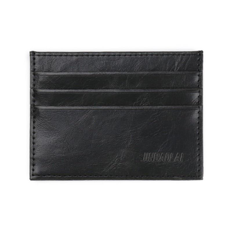 Ranuras para tarjetas de 2 caras Mini billetera Bolsos de tarjetas de crédito delgado Bolsillo de bolsillo pequeño bolso para hombres mujeres Titulares de tarjetas negro al por mayor