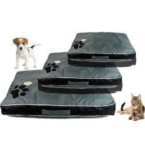 Image 2 - Łóżka dla psów duże psy domowa Sofa hodowla kwadratowa poduszka Husky Labrador Teddy duże psy dom dla kotów łóżka maty