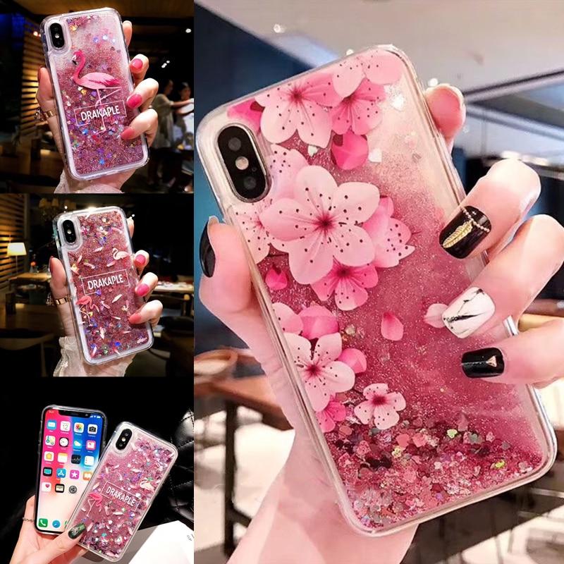 Водонепроницаемый Жидкий чехол для телефона, блестящий мягкий чехол с цветочным рисунком фламинго для Xiaomi 6X A2 8 F1 MAX MIX 2S Note3 Redmi 4A 4X 5A S2 Plus 6A Pro|Специальные чехлы|   | АлиЭкспресс