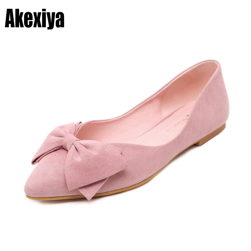 ff5bfa4484 Women's single shoes casual shoes wild shallow mouth princess shoes flat  shoes bow shoes black apricot pink navy blue wine red