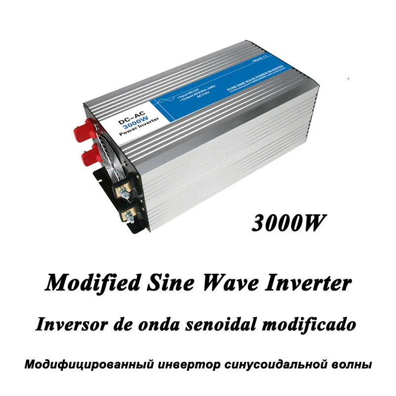 DC-AC 3000W Modified Sine Wave Inverter,LED Digital Display,with USB,DC to AC Frequency Converter Voltage Electric Power Supply dc ac 1000w pure sine wave inverter 12v to 220v converters voltage off grid electric power supply led digital display usb china