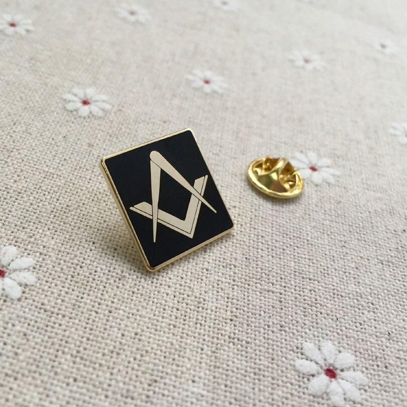 Ev ve Bahçe'ten İğneler ve Rozetler'de 100 adet toptan özel masonik ücretsiz masonlar yaka pin metal rozeti zanaat hatıra lodge masonluk kare broş ve iğneler'da  Grup 1
