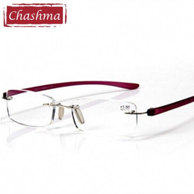 180e3abec78b Chashma High Quality Anti Fatigue Frameless Reading Glasses Rimless Eyewear  Women Men Fashion Design Reading Glasses