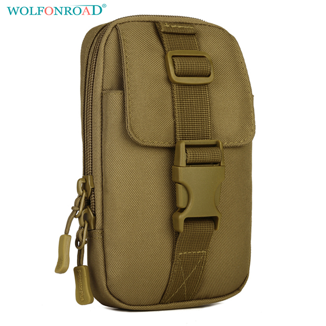 buy popular 28a91 2f9d8 US $10.68 29% OFF|WOLFONROAD Mobile Phone Bag Military Tactical Pouch Waist  Bag Men's Waterproof Pack Molle Cell Phone Case Belt Bags L SHZ 70-in ...