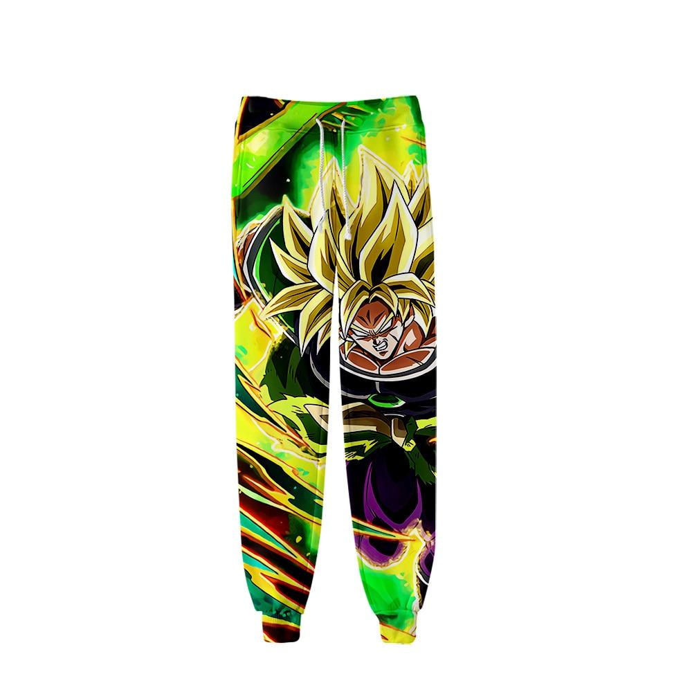 Hot Dragon Ball Super Broly 3D Pants Men/women Fashion Hip Hop Streetwear 3D Print Dragon Ball Super Broly Boy's Casual Trousers