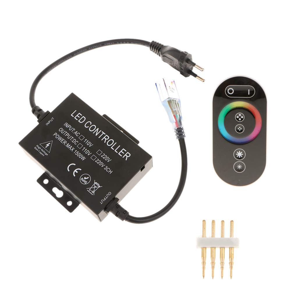 LED Light Strip RGB LED Remote Controller Dimmer, with Touch Sensor Screen 220V EU Plug