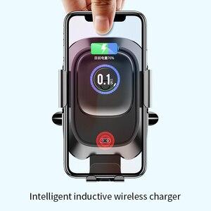 Image 2 - Baseus אלחוטי לרכב מטען עבור iPhone Xs Max Xr X סמסונג S10 S9 אנדרואיד טלפון מטען מהיר Wirless טעינה לרכב טלפון בעל