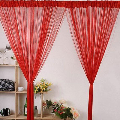 Hot New Solid Color Tassel Drape Fringe String Curtain Panel Window Room Divider