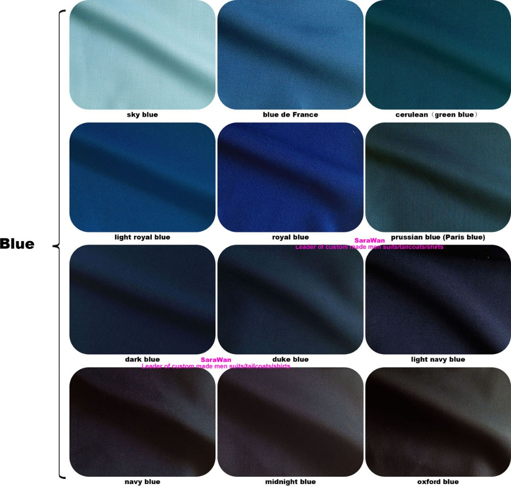 Custom Made 2 Piece Royal Blue Business Suits Men Bespoke Tailored