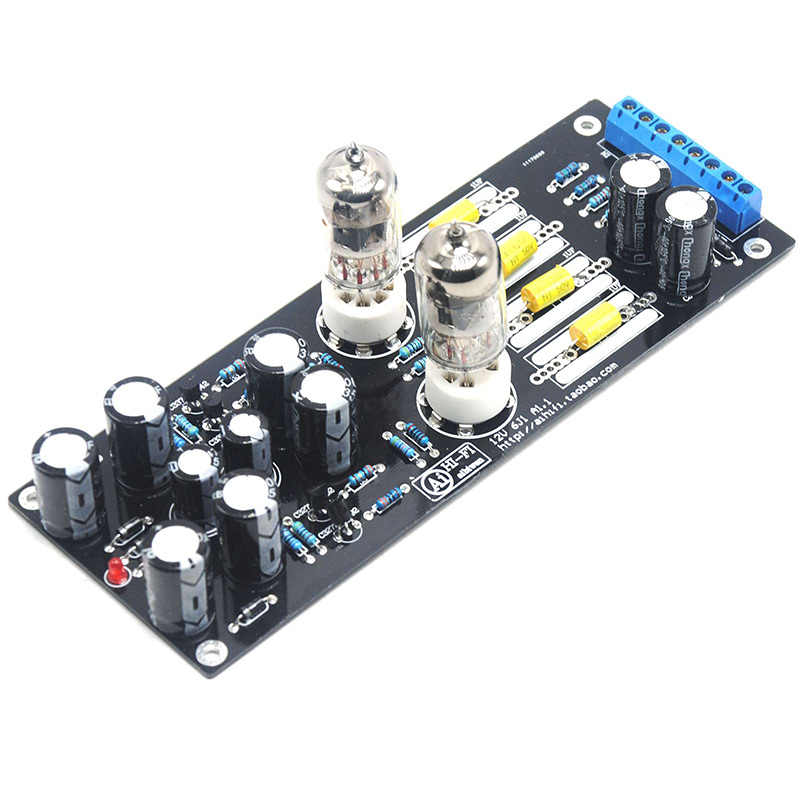 1pc 6J1 Valve Pre-amp Tube PreAmplifier Kit Assembled Board Audio DIY Vertical Tube