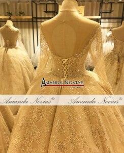 Image 3 - יוקרה חתונה שמלת אמנדה novias עבודה אמיתית 100% באיכות גבוהה שמלת כלה