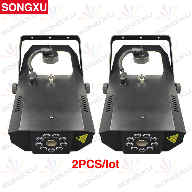Qualified Songxu 2pcs/lot 1200w Rgb 3in1 Led Fog Machine Dmx Fog Machine Colorful Smoke Machine/sx-fm1200 Stage Lighting Effect Lights & Lighting