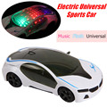 1:24 RC Coche Eléctrico Juguetes Modelo De Plástico Que Destella 3D i8 Luz Universal de Emulación de Sonido del coche de Concepto de Deporte Juguetes de Coches Para niños
