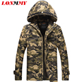 LONMMY Military jacket hood Camouflage jaqueta masculina mens jackets and coats coat men clothes army Cotton casaco 2016