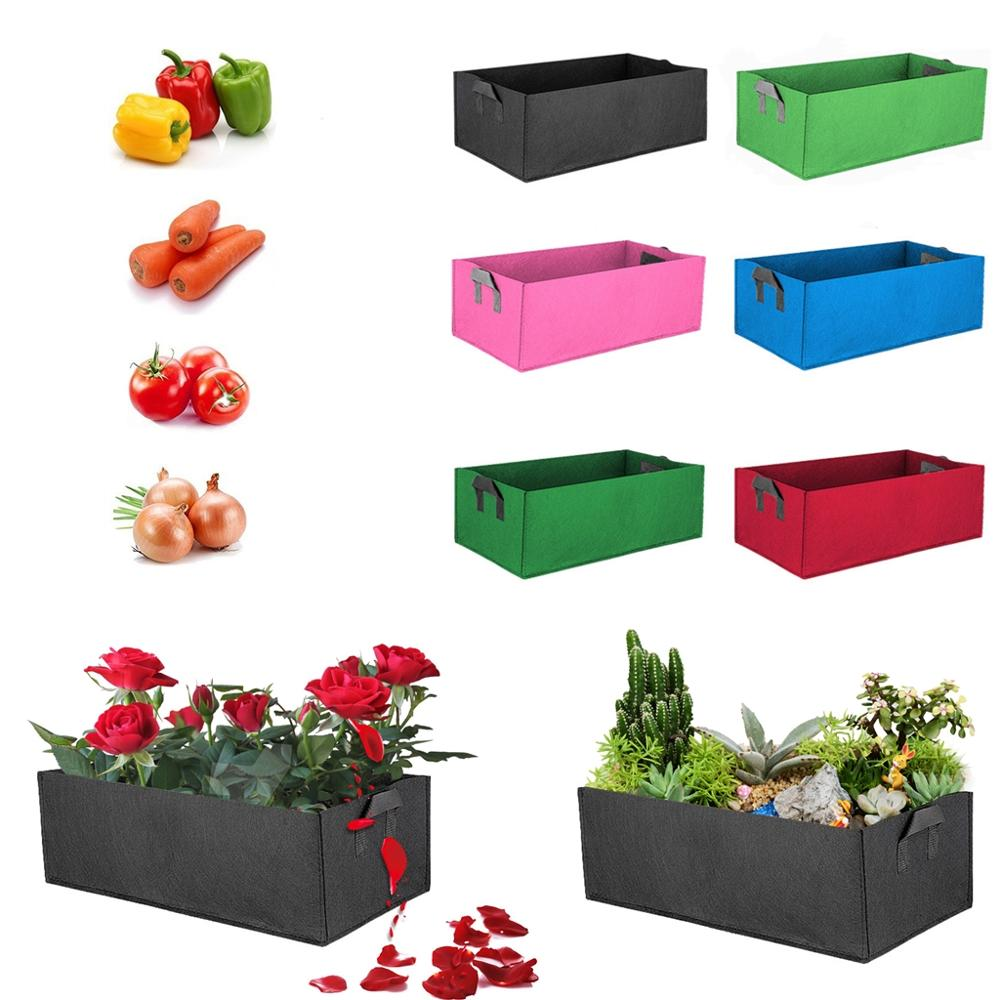 Rectangle Plant Grow Bag Planter Flowers Vegetable Container Plant Pot Strawberry Tomato Potato Flowers Garden Bed Bags Indoor Outdoor