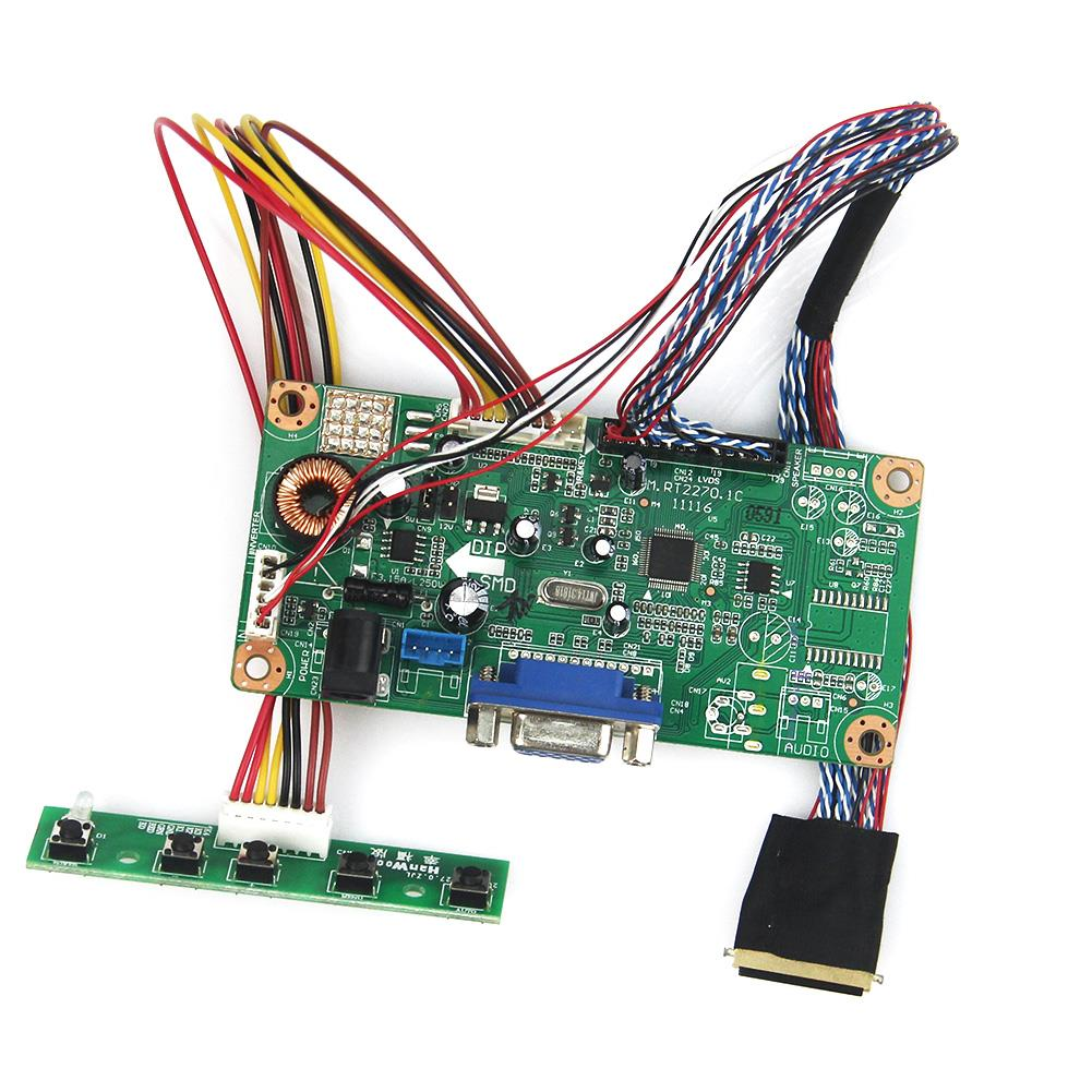 LCD/LED Controller Driver Board(VGA) For LP156WH2-TLQB LTN156AT05 LVDS Monitor Reuse Laptop 1366x768 lcd led controller driver board for b156xw02 ltn156at02 t vst59 03 tv hdmi vga cvbs usb lvds reuse laptop 1366x768