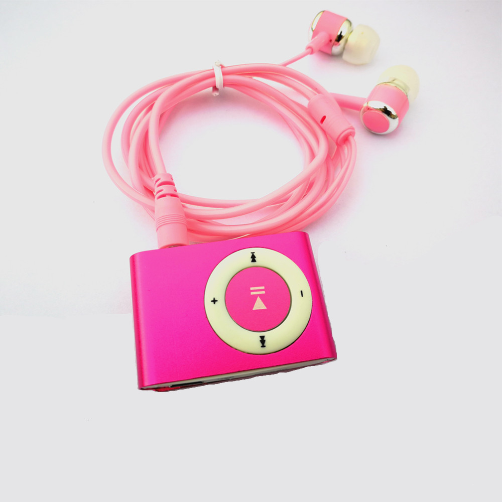 10pcs/lot Portable Mini Clip MP3 Player Walkman Lettore Mp3 Support Micro SD TF Card Slot with USB Cable and 3.5mm Earphone