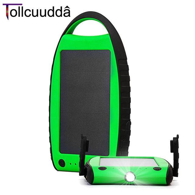 Poveda Tollcuudda Batería Powerbank Panel Solar Led Cargador de Teléfono Celular Móvil Portátil Externo Cargador Bateria Portatil