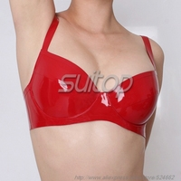 Latex Sexy Bra In Red Bras Only